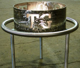 Custom Fire Pit, Stainless Steel