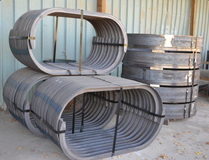Rolled, Punched and Sheared Steel Rear Pedestal Paver Hoop for the Transportation Industry